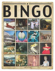 American Art History Bingo for Volumes II 36
