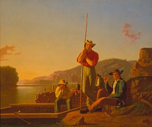George Caleb Bingham's The Wood Boat