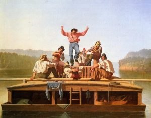 George Caleb Bingham's The Jolly Flatboatmen