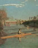 Thomas Eakins, 1844-1916, Max Schmidt in a Single Scull, 1871, Oil on canvas, 32 1/4 x 46 1/4 in.