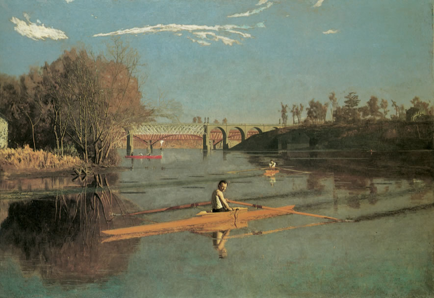 Thomas Eakins1844-1916Max Schmidt in a Single Scull1871Oil on canvas32 1/4 x 46 1/4 in.