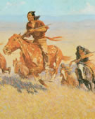 Frederic Remington, 1861-1909, Buffalo Runners: Big Horn Basin, 1909, Oil on canvas, 30 1/8 x 51 1/8 in.