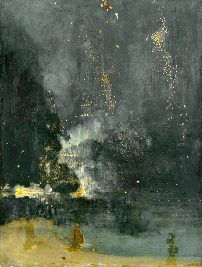 James Abbott McNeill Whistler1830-1902Nocturne in Black and Gold: The Falling Rocket1872-77Oil on canvas23.7 x 18.3 in.