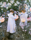 John Singer Sargent, 1856-1925, Carnation, Lily, Lily, Rose, 1885-86, Oil on canvas, 68 1/2 x 60 1/2 in.