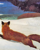 Winslow Homer, 1836-1910, Fox Hunt, 1893, Oil on canvas, 38 x 68 1/2 in.