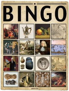 American Art Extra Bingo Card Volume I, Variation 3