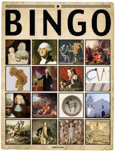 American Art Extra Bingo Card Volume I, Variation 1