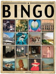 American Art Extra Bingo Card, Variation 10