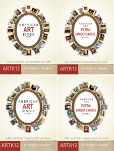 American Art Bingo Classroom Bundle, 4 books by Kristin J. Draeger