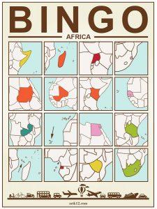 Africa Bingo: Bingo Card Two