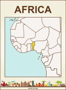 Africa Bingo: Flash Card Country: Benin