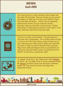 Africa Bingo: Flash Card Text: Benin