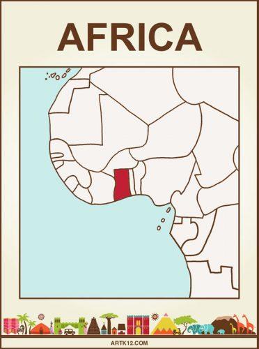 Africa Bingo: Flash Card Country: Ghana