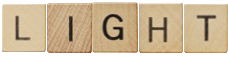 Scrabble pieces that spell