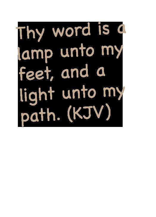 verse card text psalm 119:105