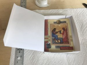 A finished open box.
