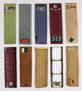 Bible verse card bookmark backs