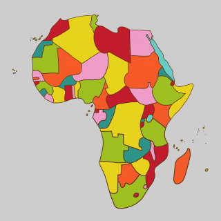 The continent of Africa 1