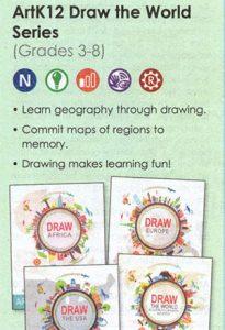ARTK12 Draw the World series in the Rainbow Resource Catalog