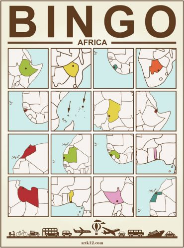 Africa Bingo Card One