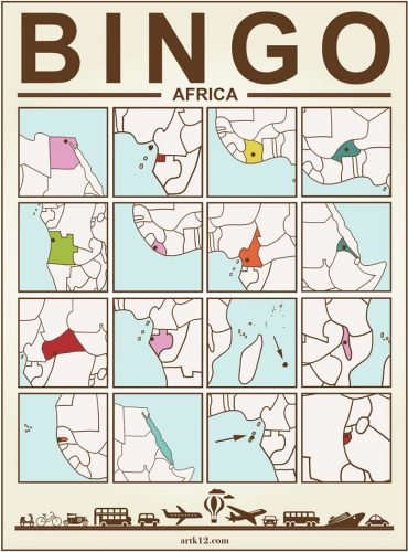 Africa Bingo Card Two