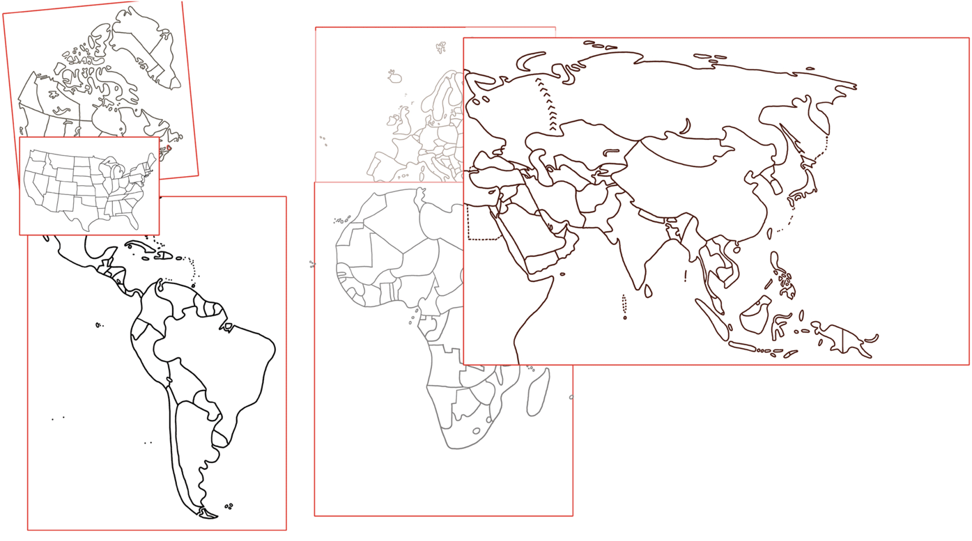Shows a possible solution to draw the ARTK12 Draw the World books at the same scale.