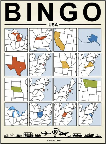 USA Bingo Card One