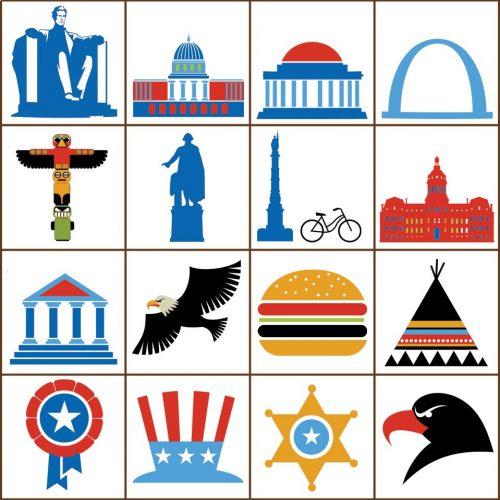 USA Bingo Tokens Detail 3