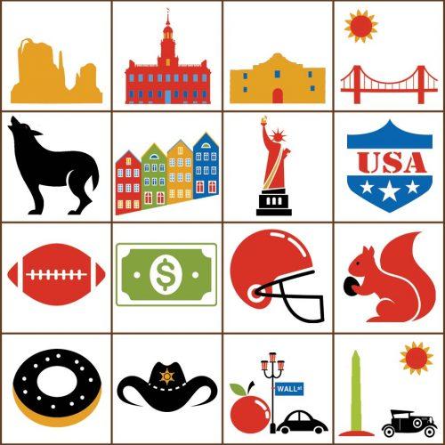 USA Bingo Tokens Detail 2