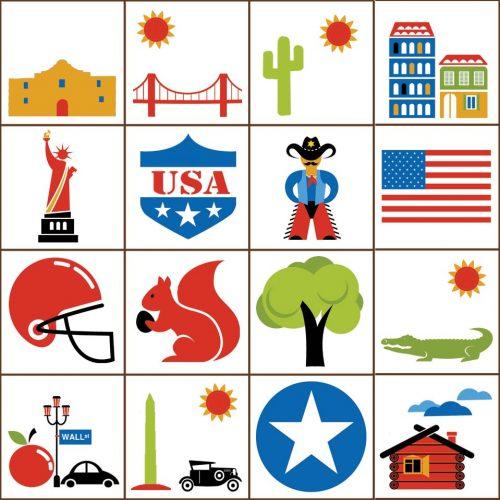 USA Bingo Tokens Detail 1