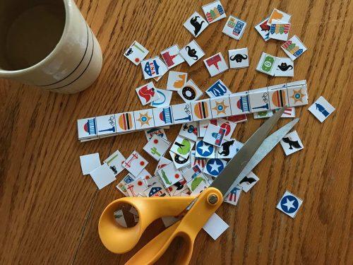 USA Bingo Tokens...mostly cut