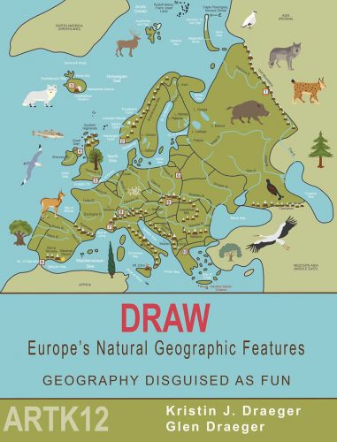 Cover for new Geography Book: Draw Europe's Natural Geographic Features