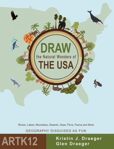 Draw the Natural Wonders of the USA: Bookcover